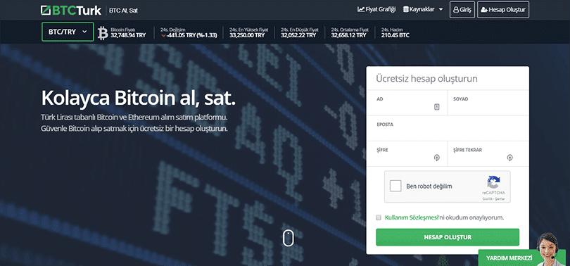 BTCTurk ile kolayca Bitcoin ve Ethereum al, sat