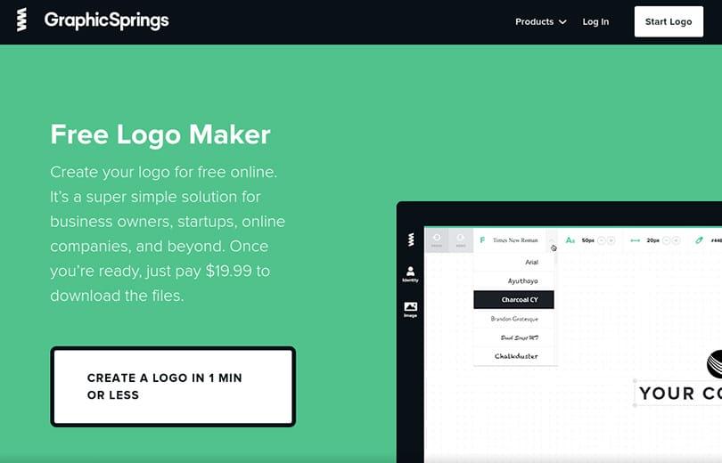 graphic springs ile logo tasarlama