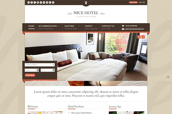 Nice Hotel WordPress Themes – ThemeForest