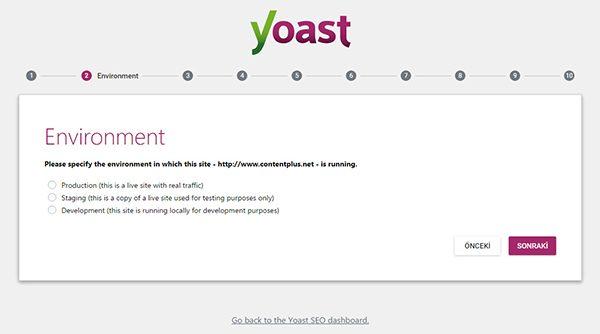 Wordpress Yoast SEO Eklentisinin Kurulum Sihirbazı İkinci Sayfa
